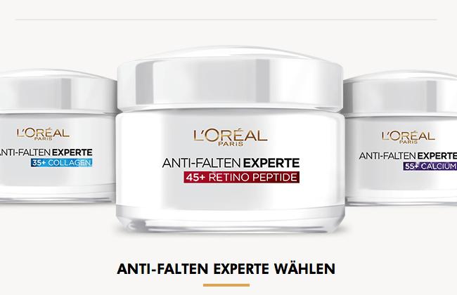 Screenshot Anti-Falten Experte Feuchtigkeitspflege Produkttest