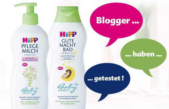 Screenshot Produkttest Hipp Pflegemilch Gute Nacht Bad