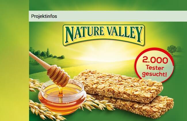 Screenshot Produkttest Nature Valley Crunchy Riegel