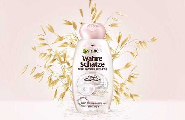 Screenshot Garnier Wahre Schätze Snafte Hafermilch Shampoo