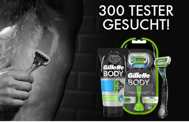 Sreenshot Gilette BODY5 Körper-Rasierer