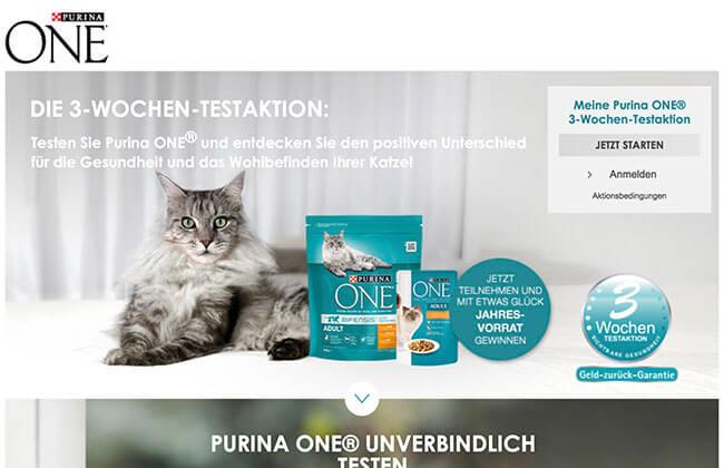 Purina Katzenfutter Gratisproben